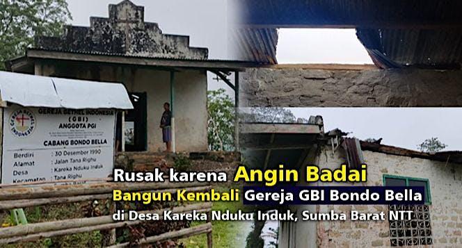 GBI Bondo Bela Dihantam Badai Seroja