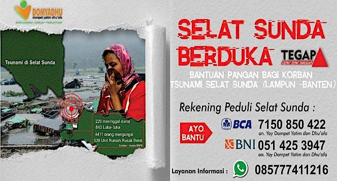 Bantuan Pangan Bagi Korban Tsunami Selat Sunda