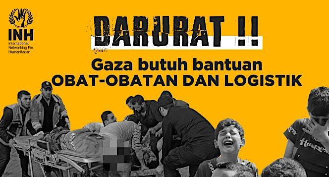 Gaza Butuh Obat-Obatan Korban Perang