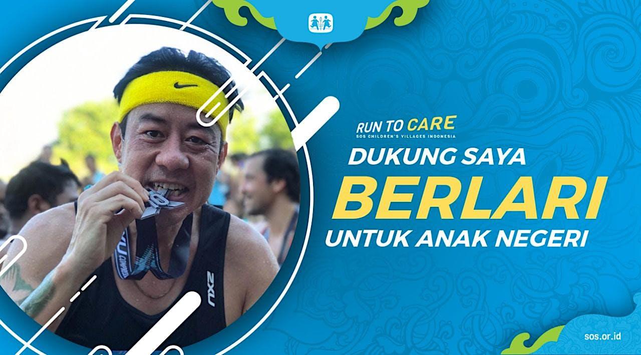 Rudyanto Yaphar berlari 150KM untuk Mimpi Anak