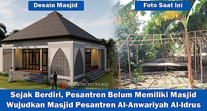 Bangun Masjid Impian Pesantren Pelosok Banten
