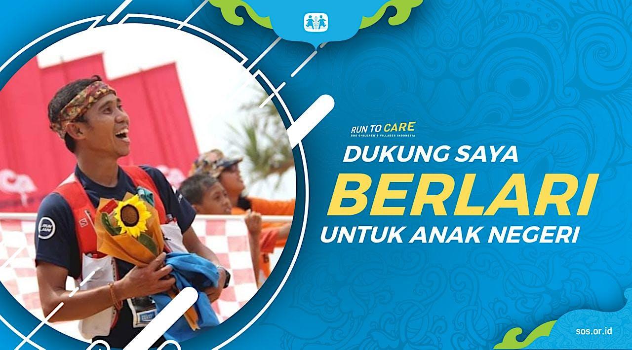 Ahsar berlari 150KM untuk Mimpi Anak Indonesia