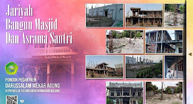 Jariyah Bangun Masjid & Asrama Santri Mekar Agung