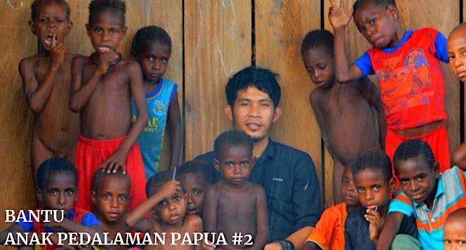 Bantu anak pedalaman Papua 2
