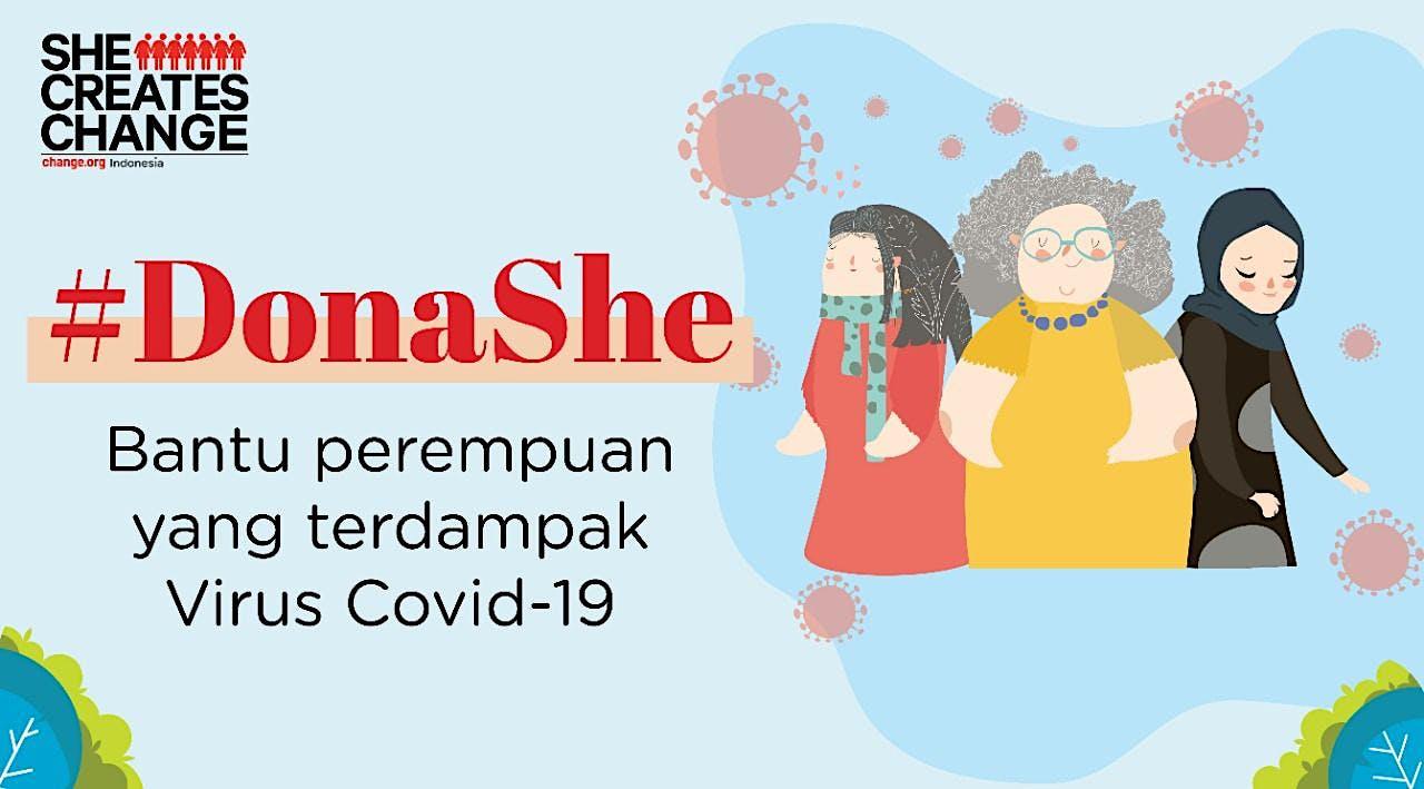 #DonaShe - Bantu perempuan terdampak Covid-19