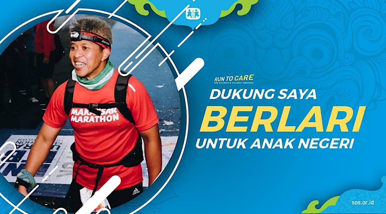 Ucink berlari 150KM untuk Mimpi Anak Indonesia