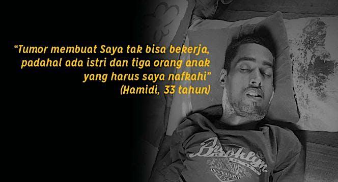 Bantu Hamidi Lawan Tumor Tenggorokan