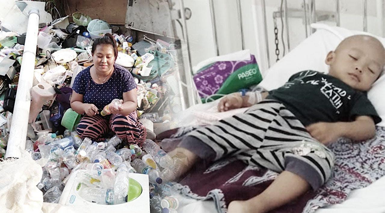 Ibu Bersihkan Sampah Guna Sembuhkan Leukimia Anak