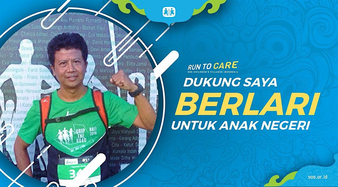 I Nyoman Dama Berlari 150KM untuk Anak Indonesia