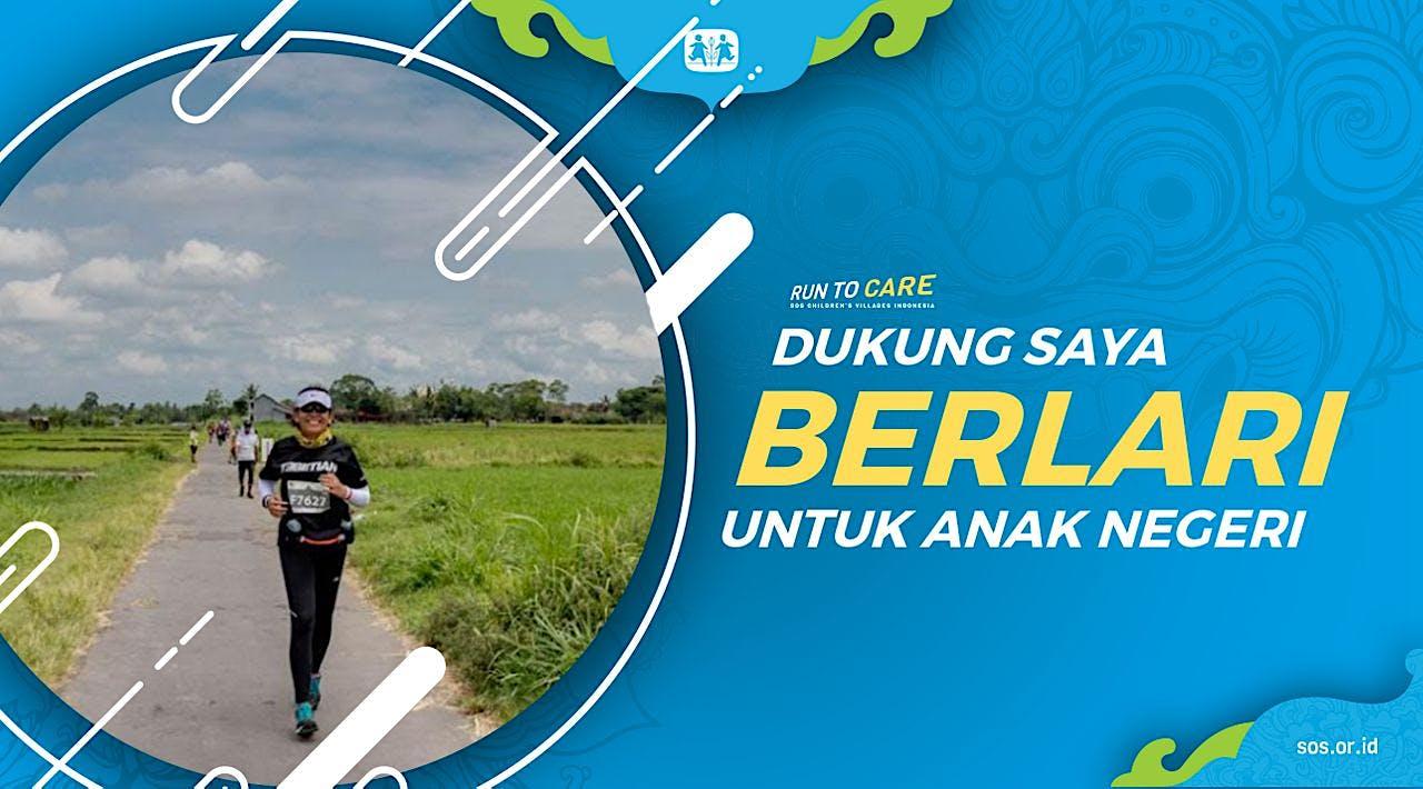 Evi berlari 150KM untuk Mimpi Anak Indonesia