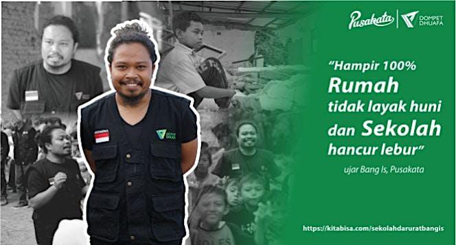 Dukung Pusakata Bangun Sekolah Darurat di Lombok