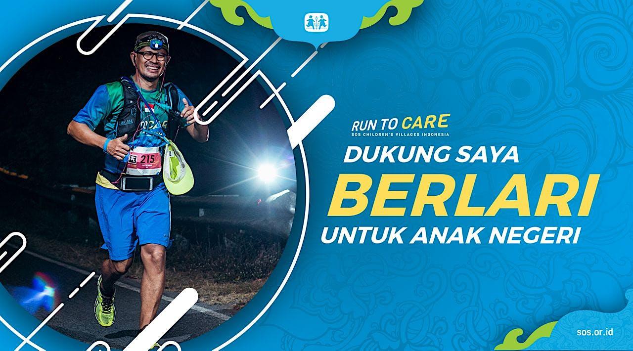Kamal berlari 150KM untuk Mimpi Anak Indonesia