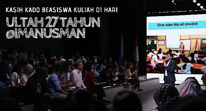 Beasiswa @ImanUsman: Gratis Kuliah Sampai Wisuda!