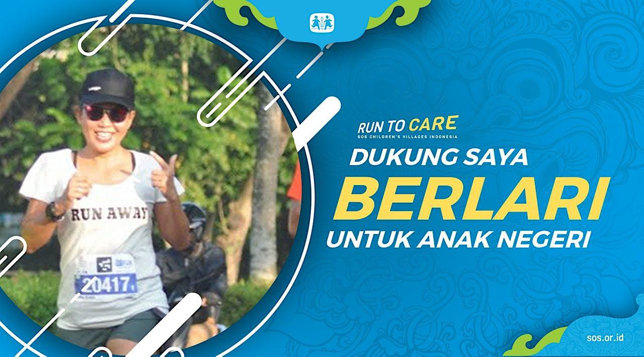Rima Berlari 150KM untuk Mimpi Anak Indonesia