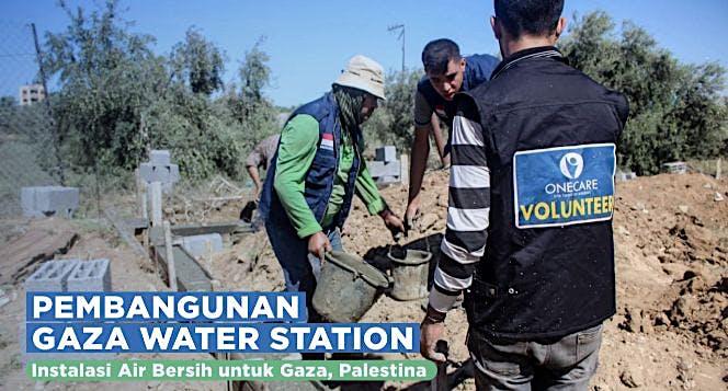 Pembangunan Stasiun Air Bersih di Gaza Tahap 2