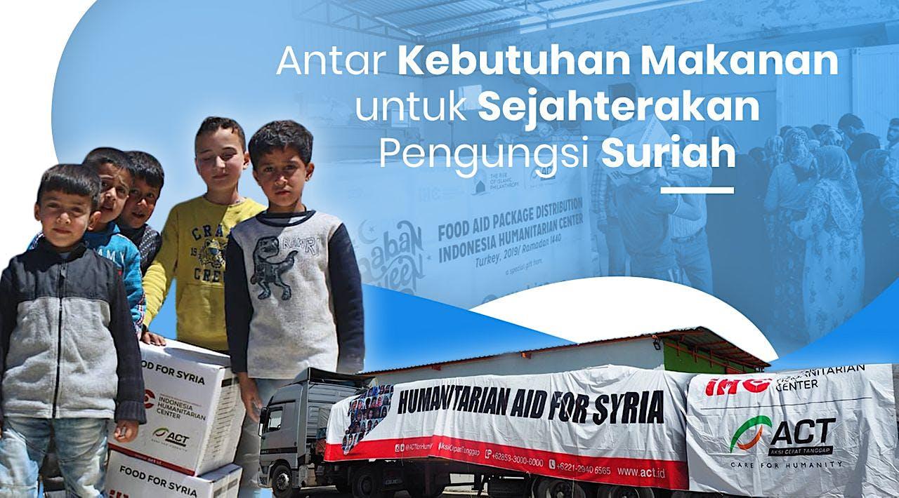 Bantuan Paket Pangan dari Indonesia untuk Suriah