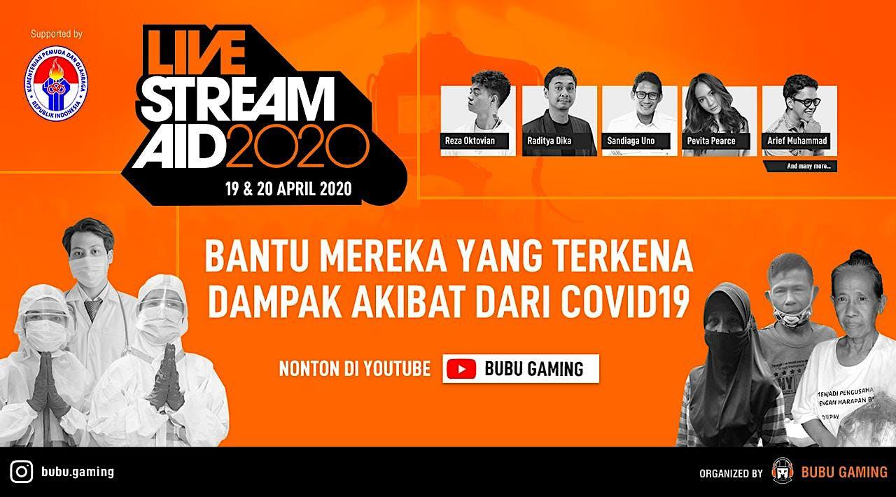LiveStreamAid2020 with Esports & Content Creators