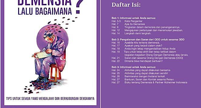 Bantu Alzheimer Indonesia mencetak buku panduan.