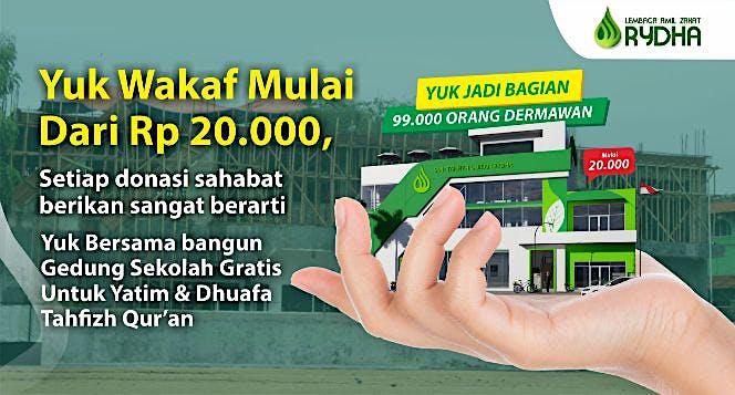 Bangun Sekolah Yatim Dhuafa Tahfizh Qur'an Rydha