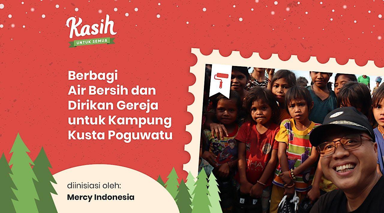 Berbagi Air Bersih untuk Kampung Kusta Poguwatu