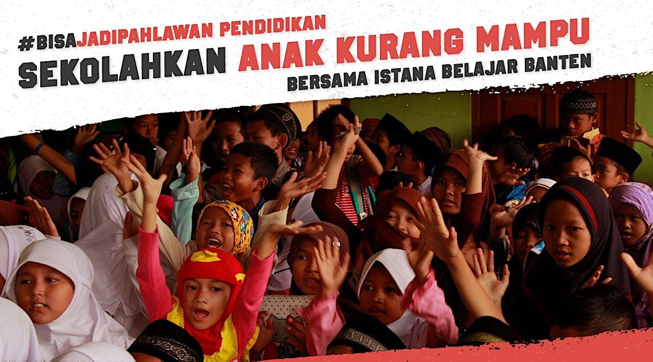 Bantu Armah dan Puluhan Anak Lainnya Terus Sekolah