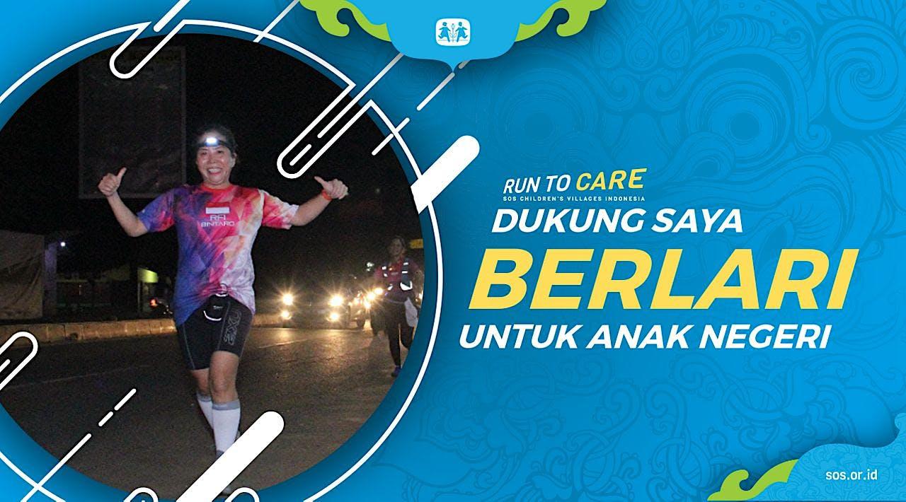 Patricia berlari 150KM untuk Mimpi Anak Indonesia