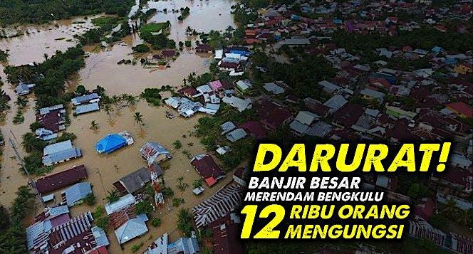 Bantu Ribuan Korban Banjir dan Longsor di Bengkulu