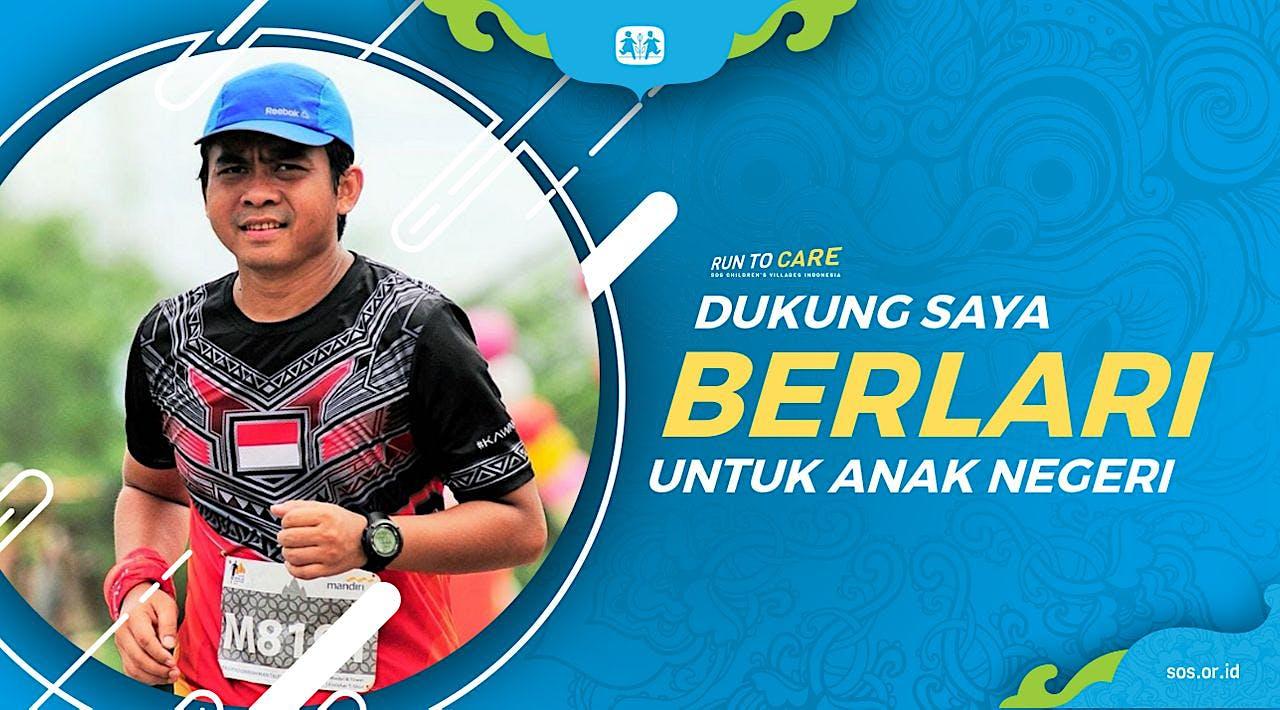 Taufiq berlari 150KM untuk Mimpi Anak Indonesia