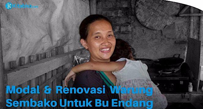Modal & Renovasi Warung Sembako Untuk Bu Endang