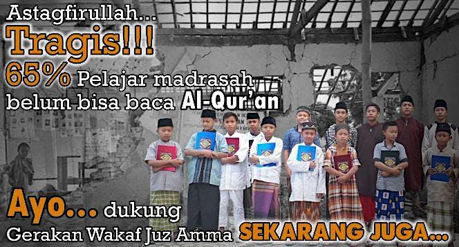 Wakaf Juz Amma Gratis untuk Madrasah se-Indonesia