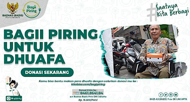 Bagii Piring untuk para Dhuafa