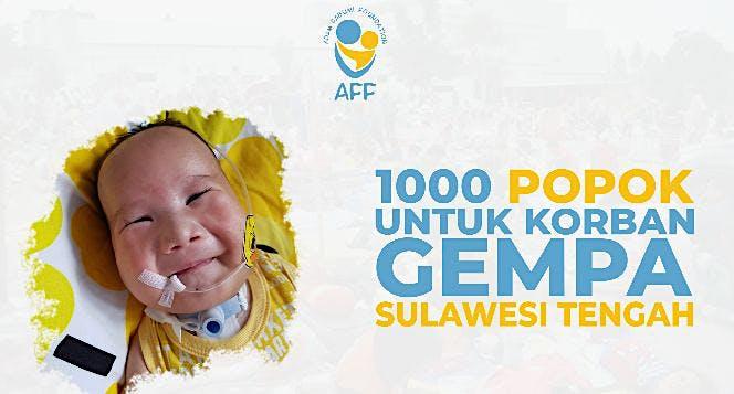 1000 Popok Bayi untuk Korban Gempa Sulawesi Tengah