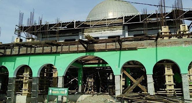 Donasi pembangunan masjid Baiturrohmah patrol