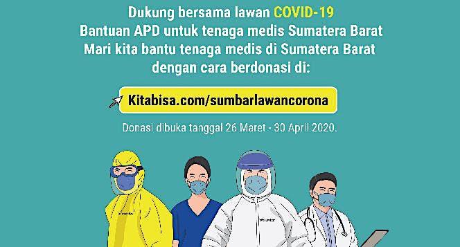 Bantuan APD untuk Tenaga Medis di Sumatera Barat