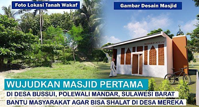 Bangun Satu-satunya Masjid di Desa Bussui SulBar
