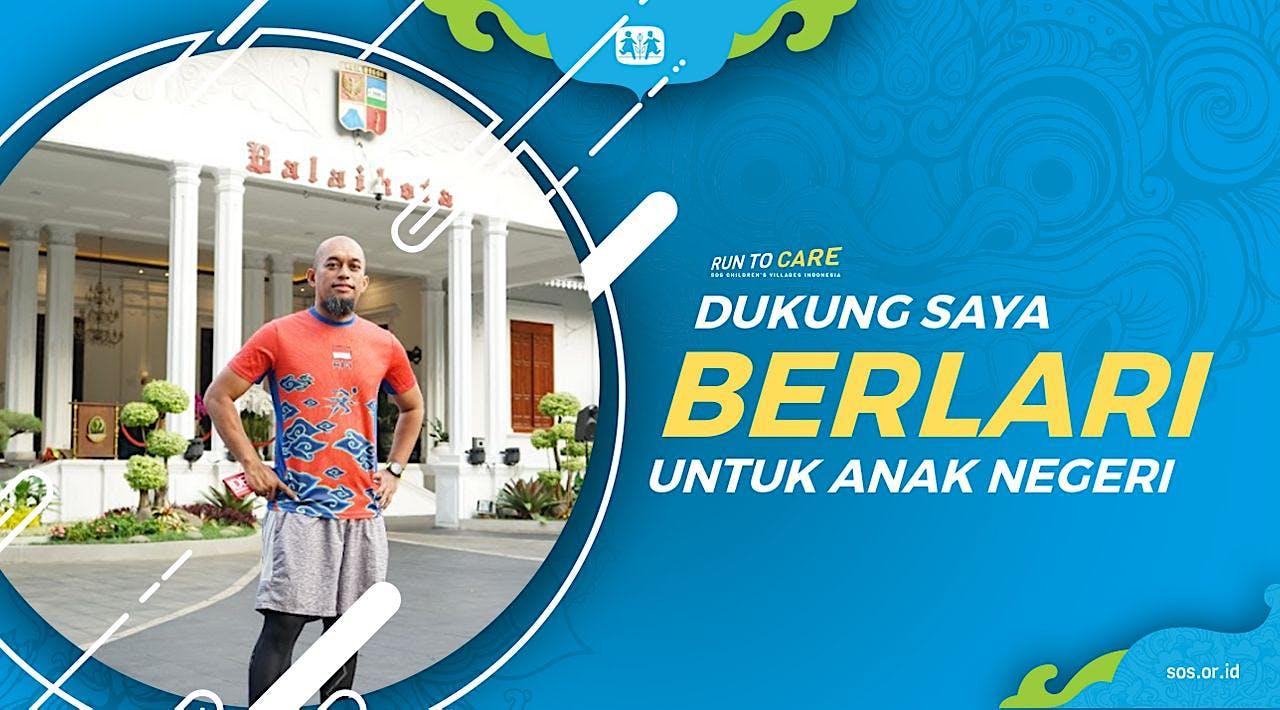Hendro W berlari 150KM untuk Mimpi Anak Indonesia