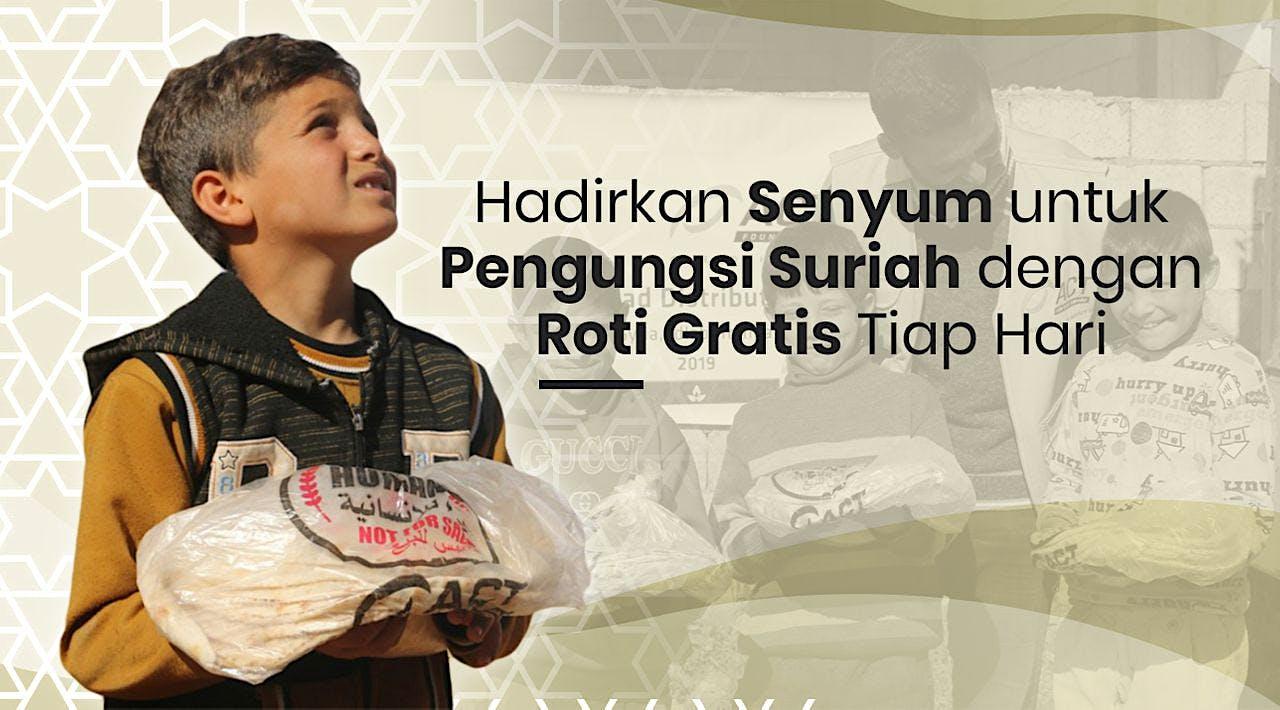 Antarkan Roti Khobz untuk Pengungsi Suriah