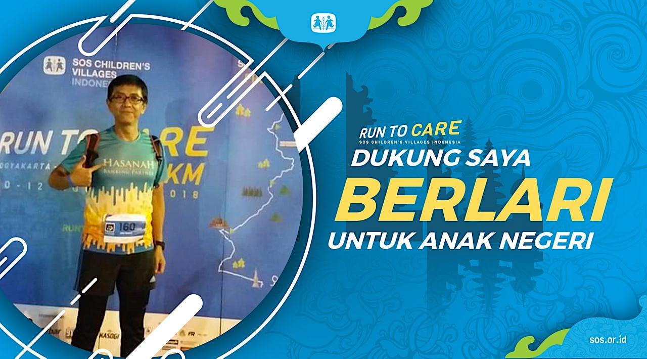 Adjat berlari 150KM untuk Mimpi Anak Indonesia