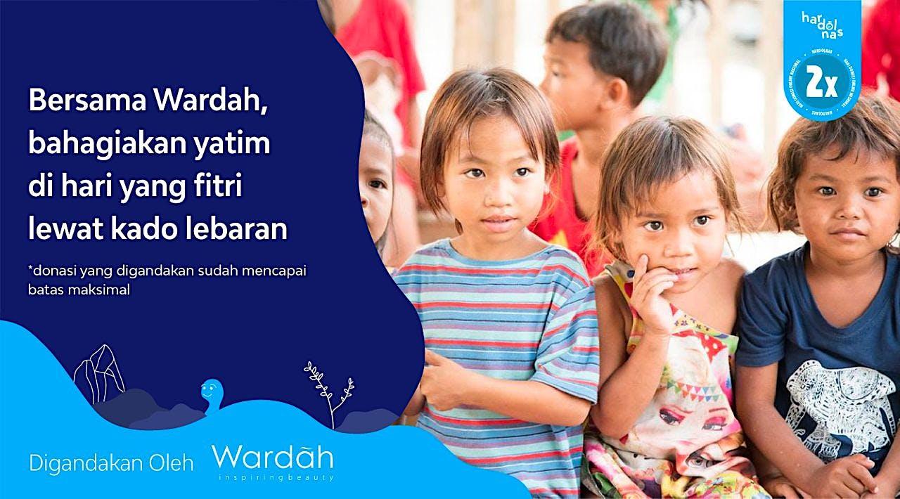 Wardah Berbagi Kado Lebaran bagi 1.000 Anak Yatim