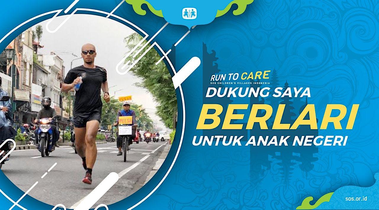 Arif Adi berlari 150KM untuk Mimpi Anak Indonesia