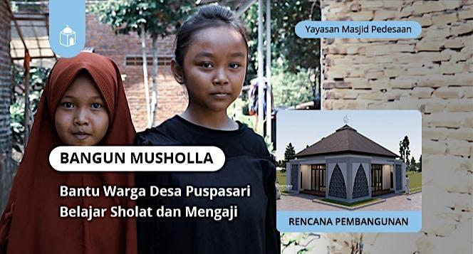 Bangun Musholla Untuk Belajar Sholat & Mengaji