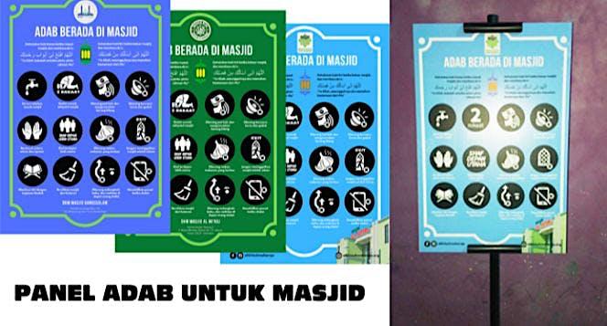Sebar Panel Adab untuk Masjid