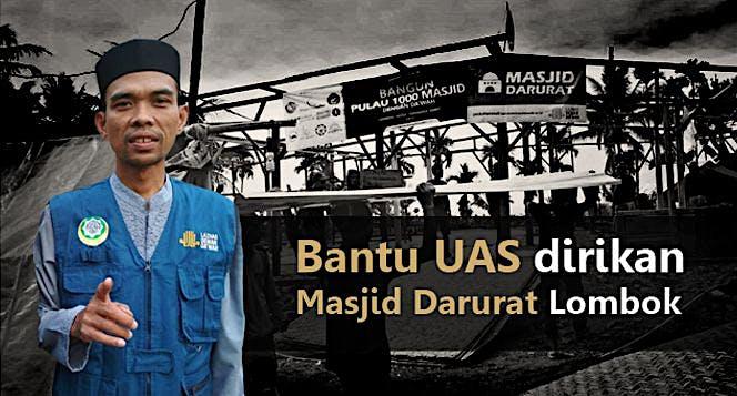 Masjid darurat Lombok