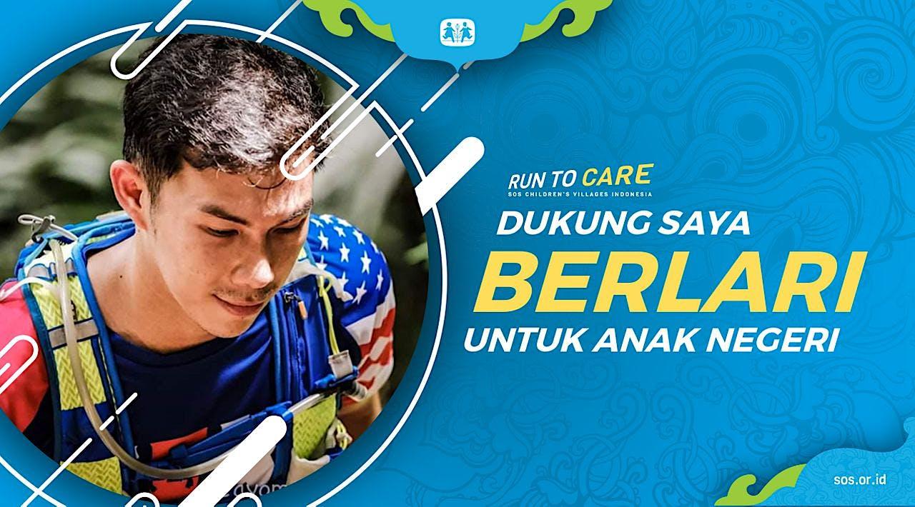 Edwin berlari 150KM untuk Mimpi Anak Indonesia