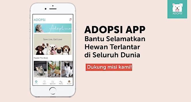 Bantu ADOPSI App Selamatkan Hewan Terlantar