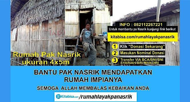 Rumah Layak Untuk Keluarga Pa Nasri dan 2 Anaknya