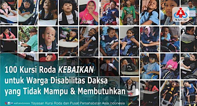 Bantu 100 Kursi Roda untuk Warga Disabilitas Daksa
