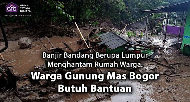 Mari Bantu Segera! Gunung Mas Bogor Banjir Bandang