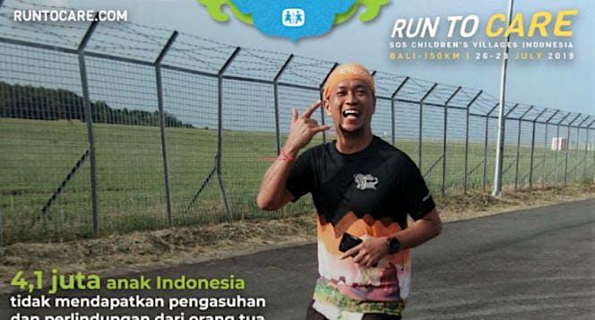 Ade berlari 150KM untuk Mimpi Anak Indonesia