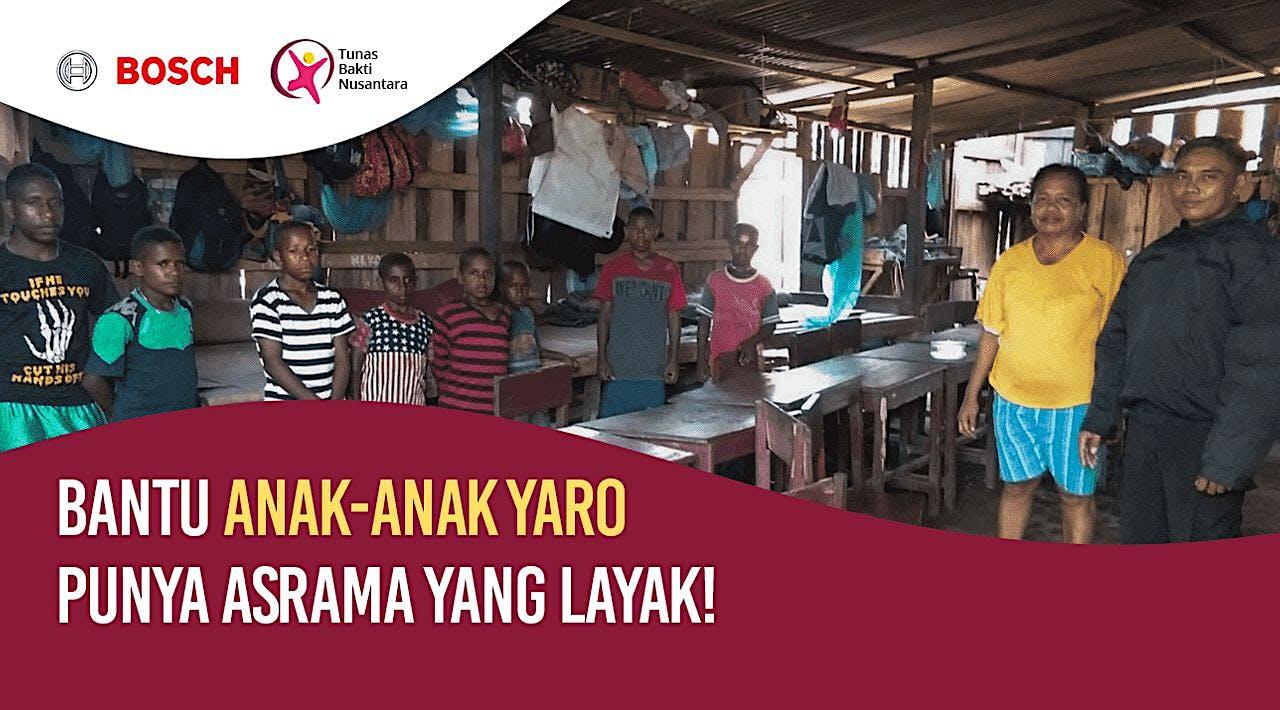Bantu Anak-anak Yaro Mempunyai Asrama yang Layak